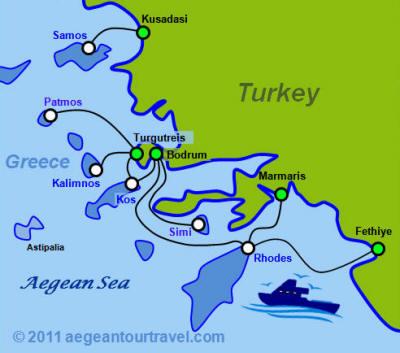 Ferry Service Turkey Greek Islands