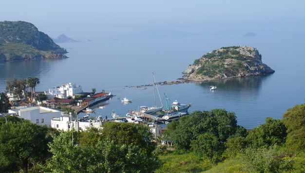 Gumusluk Turkey  city photo : Gumusluk Harbour and Rabbit Island Bodrum Turkey