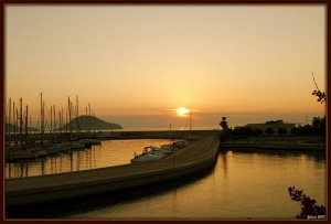 Turgutreis Sunset and Harbour, Turkey