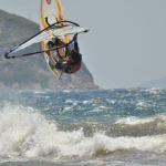 Windsurfing in Kadikalesi near Turgutreis Turkey