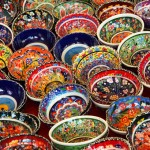 Traditional Turkish Ceramic Bowls Bodrum Peninsula Turkey