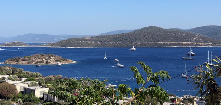 Turkbuku Bay Turkey, Bay and yachts