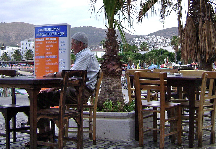 Bodrum Cafe with Fisherman