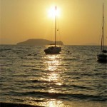 Gumusluk Boats and Sunset Bodrum Turkey